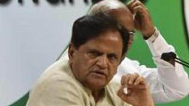 Senior Congress leaders Ahmed Patel.(Vipin Kumar/HT PHOTO)