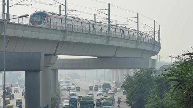 Metro train services on several corridors will be restricted till 2pm on Wednesday due to the farmers' agitation against the new farm bills(PTI)