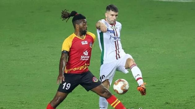 ATK Mohun Bagan in action SC East Bengal.(ISL)