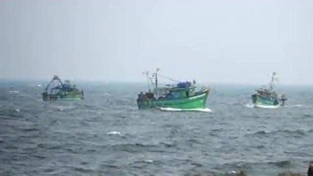 A fishing trawler went missing off Mumbai on Thursday.(HT File Photo)