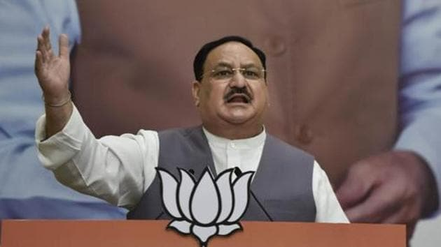 BJP president JP Naddawill visit the state this weekend for campaigning.(PTI file photo)