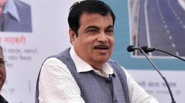 Nitin Gadkari participated in the programme though video conference from his office in New Delhi while CM Yogi Adityanath presided over the virtual function from the annexe auditorium in Gorakhpur.(HT PHOTO.)