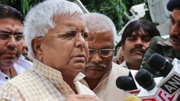 Rashtriya Janta Dal (RJD) leader and former Bihar chief minister Lalu Prasad Yadav has sought bail in a fodder scam case claiming to have served half of his sentence.(PTI Photo)