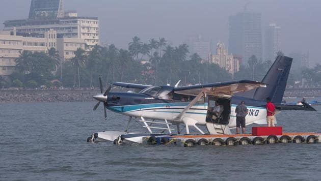 Seaplane services had to be suspended for two days in the first week of its operations itself. It did not operate on November 5 and 6 due to maintenance issue.(HT PHOTO)