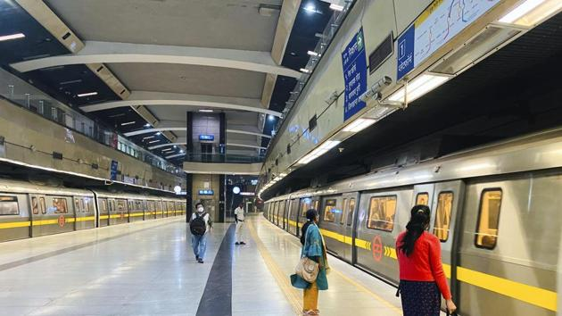 """""""Services normal at all corridors from 5:35 pm onwards,"""" the DMRC tweeted on Friday.(AP file photo)"""