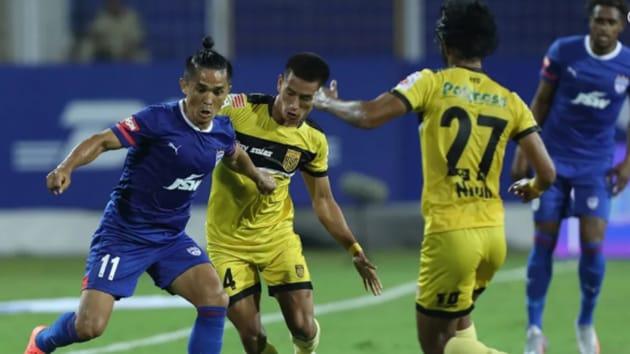 Sunil Chhteri in action.(ISL pic)
