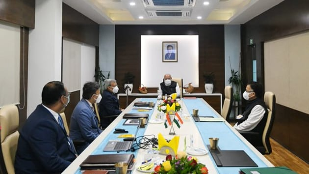 PM Modi reviewed the Covid-19 vaccine development at Ahmedabad's Zydus Biotech Park(ANI Twitter)