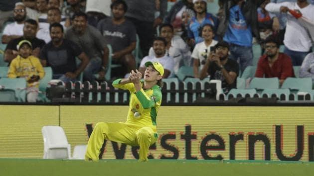 Australia's Adam Zampa drops India's Virat Kohli during the one day international cricket match between India and Australia at the Sydney Cricket Ground in Sydney, Australia, Friday, Nov. 27, 2020. (AP Photo/Rick Rycroft)(AP)