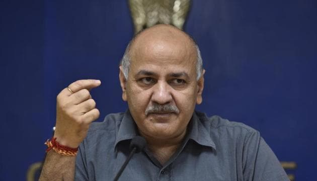 Delhi Deputy Chief Minister Manish Sisodia(Sanjeev Verma/HT PHOTO)