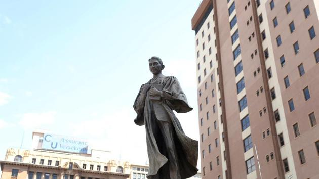 A statue of Mahatma Gandhi is seen at Gandhi Square in Johannesburg, South Africa, June 11, 2020.(REUTERS/ FILE)
