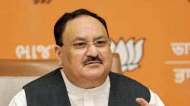 Several senior BJP leaders are campaigning in the Greater Hyderabad Municipal Corporation (GHMC) elections.(PTI)