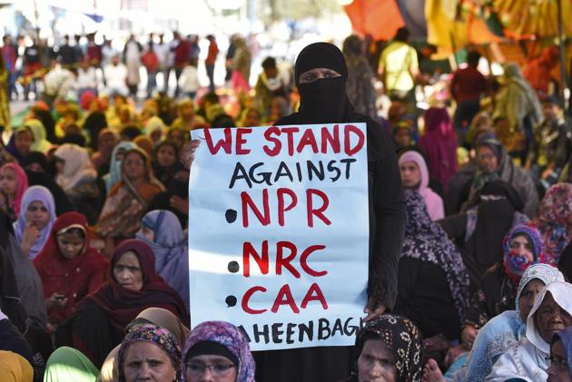 The protest at Shaheen Bagh in New Delhi on February 26, 2020.(Burhaan Kinu/HT PHOTO)