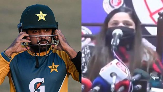 Babar Azam has landed in hot waters.(Getty Images/Screengrab)