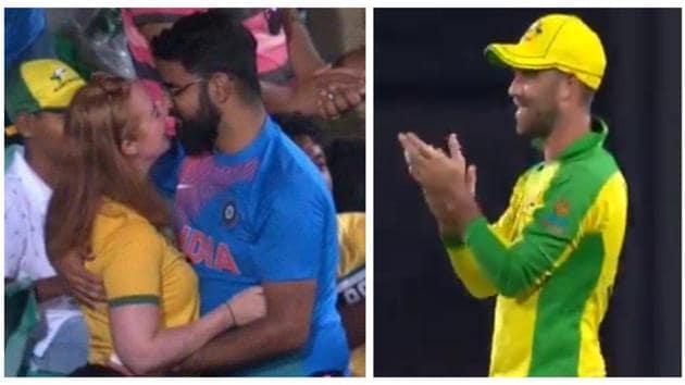 Glenn Maxwell applauds Indian man's marriage proposal.(Screegrab)