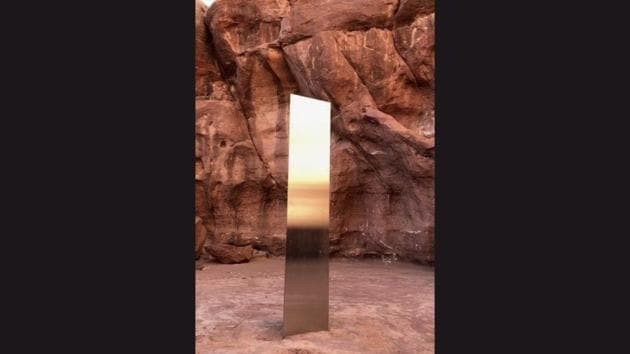 The image shows the mysterious monolith.(Facebook/@BLMUtah)