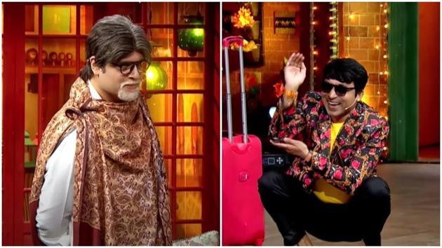 Krushna Abhishek as Amitabh Bachchan on The Kapil Sharma Show, got stumped by Chandan Prabhakar.