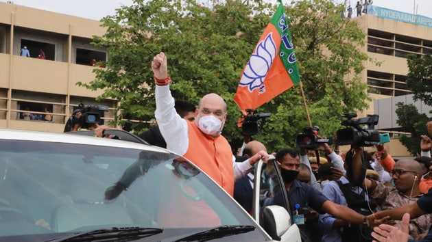Campaigning for the party, Shah will also be addressing public programs today in Telangana and he is also scheduled to attend a roadshow in Secunderabad.(Photo: BJP4India/ Twitter)