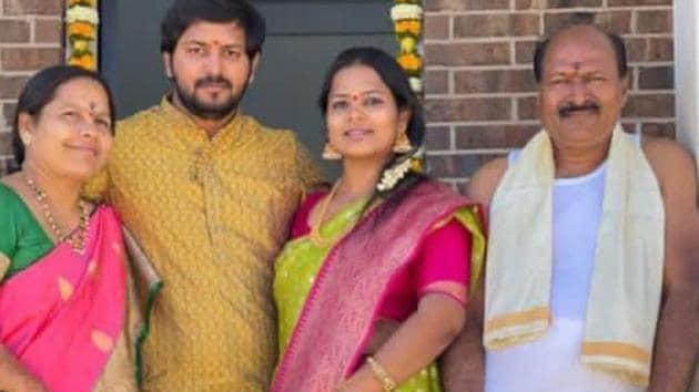 Narasimha Reddy, Mounika, Bharat and Lakshmi (From right to left).