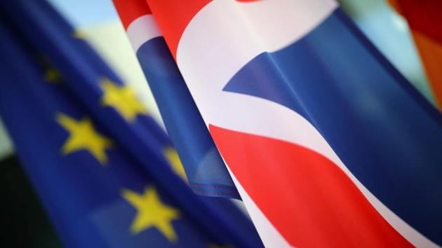 EU and Britain are trying to strike a trade deal on goods that would safeguard nearly $1 trillion in annual trade and buttress peace in British-ruled Northern Ireland.(Reuters File Photo)