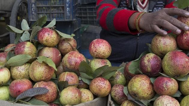 The wholesale prices of this vitamin C-rich fruit at Devi Ahilya Bai Holkar Fruit and Vegetable Market in Indore currently ranges between Rs 4 and Rs 10 per kilo.(Representative Photo/AP)