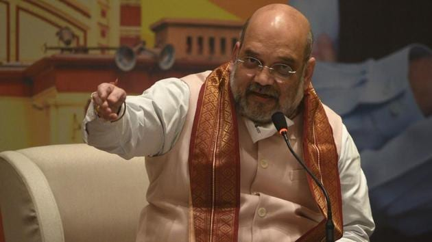 Union Home Minister and BJP leader Amit Shah.(HT photo)
