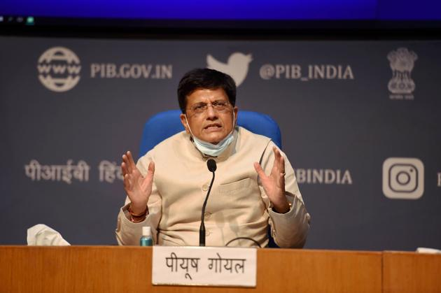 In order to scale domestic manufacturing and exports, a meeting of the Board of Trade (BOT) will be held on Wednesday by the Union Minister Piyush Goyal(PTI)