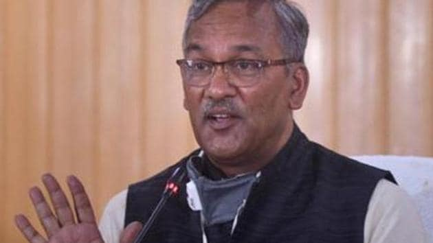 Uttarakhand chief minister Trivendra Singh Rawat asked the health officials and DMs to emphasize on conducting RT-PCR tests for Covid-19 detection.(PTI Photo)