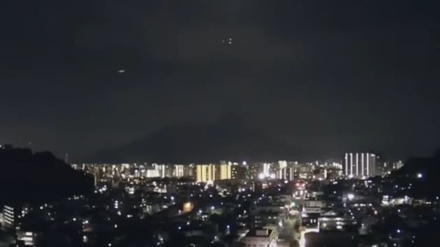 Many people in western Japan reported on social media about a brightly burning meteor.(Image via Twitter)
