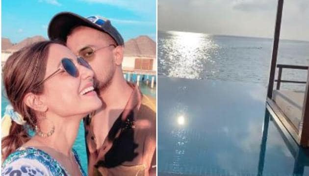 Hina Khan has shared pictures from her Maldives vacation.
