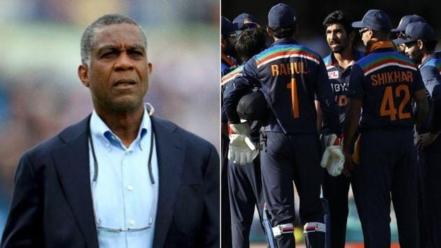 Photo of former Indian bowler Michael Holding (L), Indian cricket team (R)(Twitter)