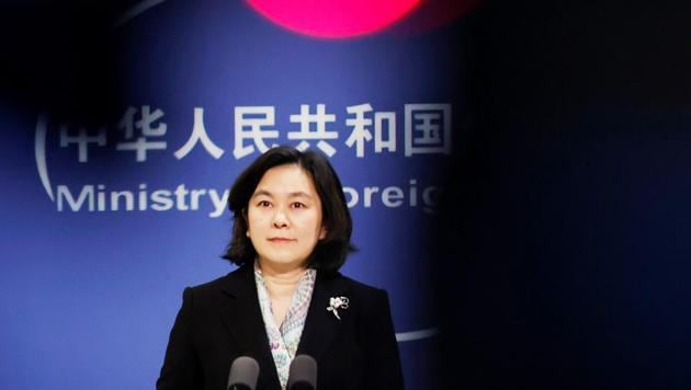 Chinese Foreign ministry spokeswoman Hua Chunying holds a news conference in Beijing, China.(Reuters)