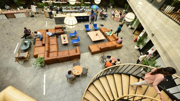 The share of coworking space take-up in overall office leasing activity is poised to rebound to about 15 per cent share in 2021, similar to the 2019 level.(HT File Photo)