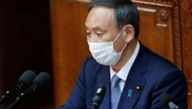 Yoshihide Suga scored the third-highest support rate for a prime minister on record when he was installed in September after his Shinzo Abe's sudden resignation due to illness.(Reuters file photo)