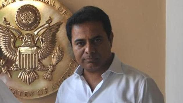 Telangana Rashtra Samiti (TRS) working president KT Rama Rao said that the BJP government was on a selling spree.(File Photo)