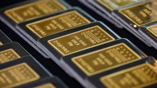 Gold slipped and was on track for its worst month in four years. Gold is down 5.9% so far this month, its biggest monthly decline since November 2016.(Reuters)