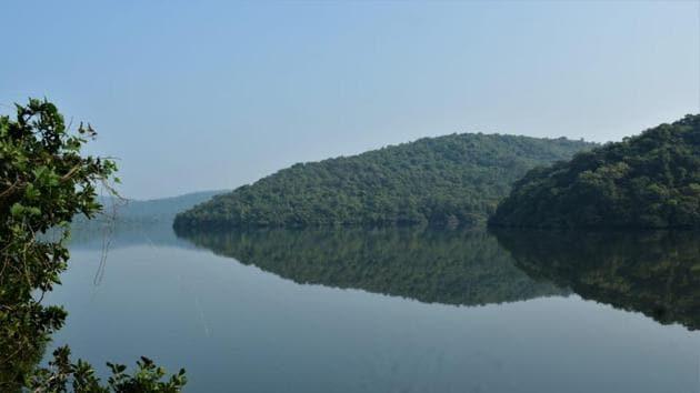 490-year-old Dhamapur Lake in Maharashtra's Sindhudurg district.(Photo: Sindhudurg Wetland Brief Documentation Committee)