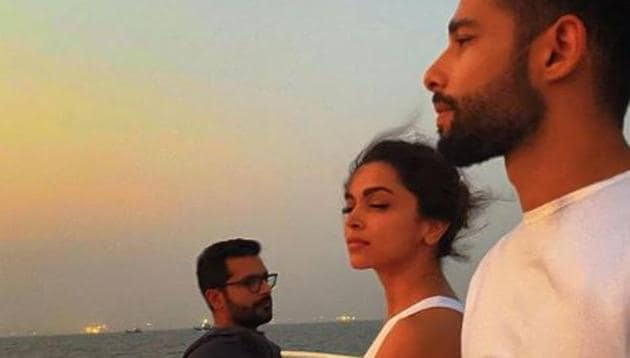 Deepika Padukone, Siddhant Chaturvedi and Shakun Batra return after a day of shooting in Alibaug.