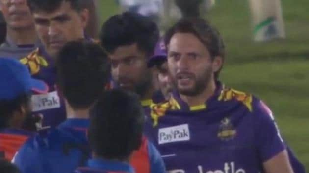 Photo of Shahid Afridi from Kandy Tuskers vs Galle Gladiators LPL 2020 match(Twitter)