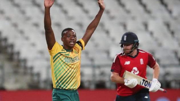 South Africa's Kagiso Rabada reacts.(REUTERS)