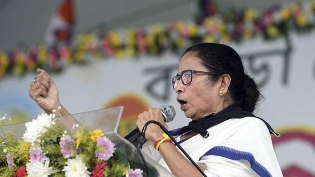 West Bengal Chief minister Mamata Banerjee addresses a public meeting, at Sunuk Pahari in Bankura district.(PTI/ File photo)