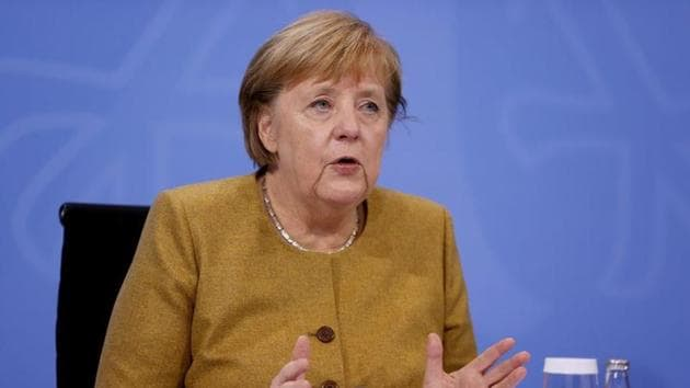 German Chancellor Angela Merkel addressing a news conference.(Reuters/ File photo)