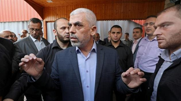 Yehya Al-Sinwar, a former head of Hamas's security apparatus, became the movement's Gaza leader in 2017(REUTERS)