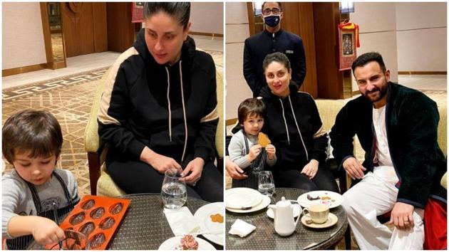 Kareena Kapoor and Saif Ali Khan with son Taimur.