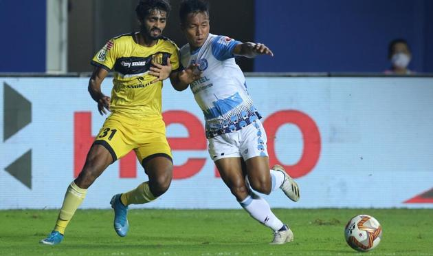 Jamshedpur FC and Hyderabad FC finish with 1-1 draw(ISL/Twitter)