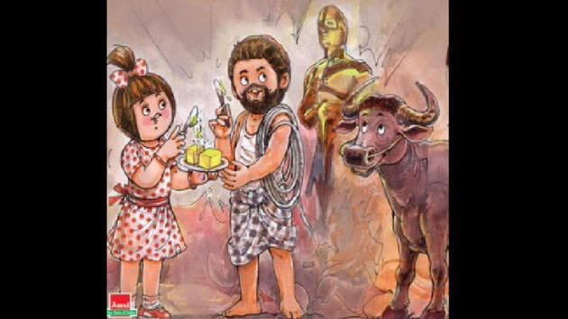 Amul shared the new cartoon titled 'Jalli Good' on Tuesday evening.(Twitter/@amul)
