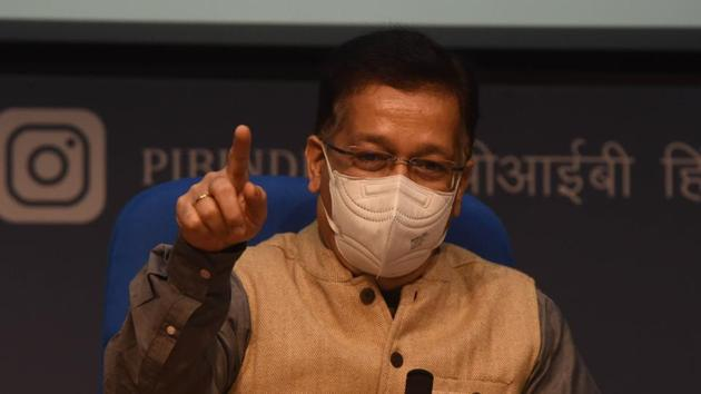 Union Health Secretary Rajesh Bhushan.(Vipin Kumar/HT PHOTO)
