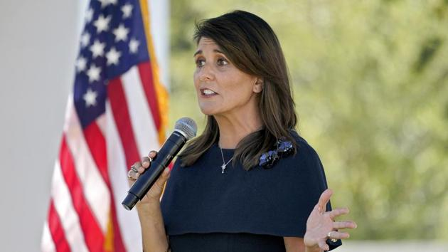 """Biden has promised to reverse the Trump admin's immigration policies, halt all deportations, & introduce amnesty legislation for illegal immigrants on day 1,"" Haley said.(AP Photo)"
