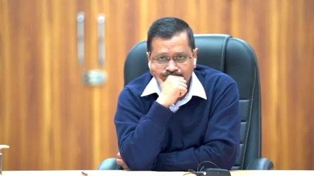 Arvind Kejriwal, Chief Minister of Delhi, said Punjab CM Capt. Amarinder Singh wanted to turn Delhi's six stadiums into open air jails, with reference to the current farmers' protests.(HT Photo)