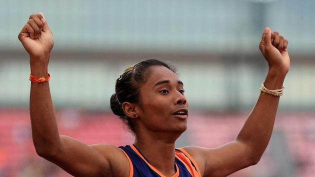 File image of Hima Das.(Getty Images for IAAF)