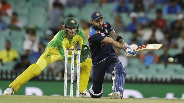 India's Virat Kohli plays a pull shot.(AP)